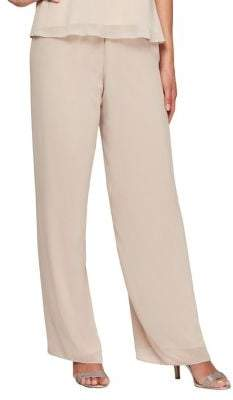 Alex Evenings Wide Leg Chiffon Pants