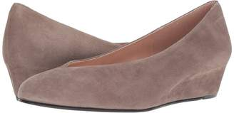 French Sole Cubic Wedge Heel Women's Shoes