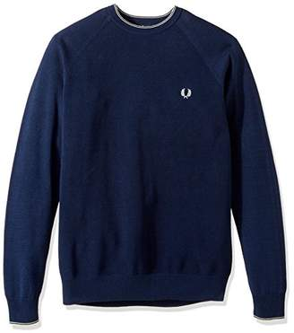 Fred Perry Men's Micro Bomber Tipped Crew Neck
