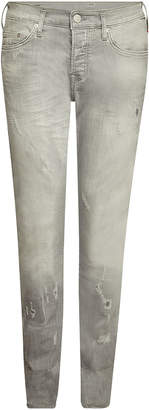 True Religion Rocco Slim Jeans with Distressed Detail