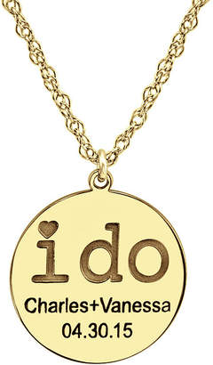 FINE JEWELRY Personalized I Do Couples Pendant Necklace