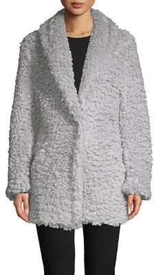 Ellen Tracy x Irina Shayk Faux Fur Shawl Jacket
