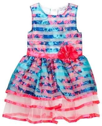 Nicole Miller Floral Printed Striped Dress (Little Girls)