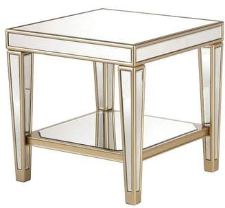 House of Hampton Paulornette Mirrored End Table with Tray