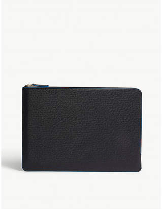 """Print Works Grained faux-leather 13""""-15"""" laptop case"""