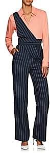 Teija Women's Pinstriped Wide-Leg Jumpsuit - Blue