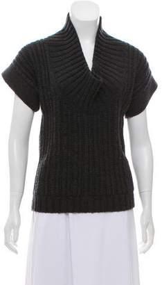 Derek Lam Wool Short Sleeve Sweater