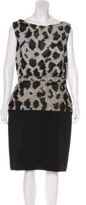 Balenciaga Wool-Blend Midi Dress
