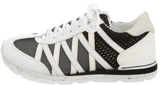 Dolce & Gabbana Boys' Leather Mesh-Accented Sneakers w/ Tags $175 thestylecure.com