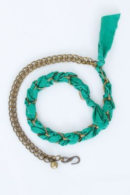 Lanvin Braided Chain/Ribbon Belt