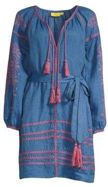 Amalia Roller Rabbit Embroidered Tunic Dress
