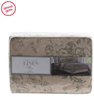 Pure Luxury Linen Linen Rose Duvet Set