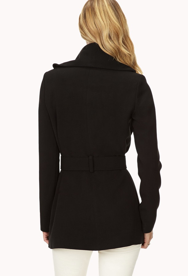 Forever 21 Contemporary Refined Draped Coat