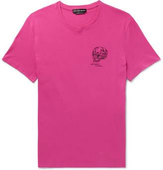 Alexander McQueen Slim-Fit Logo-Embroidered Cotton-Jersey T-Shirt - Men - Pink