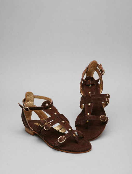 Matiko Gladiator Sandal in Brown Suede