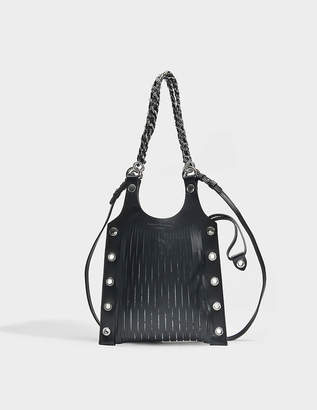 Sonia Rykiel Le Baltard Small Tote Bag in Black Leather