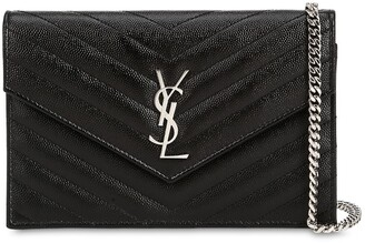46e2f19514eaa ... Saint Laurent Small Quilted Monogram Leather Bag