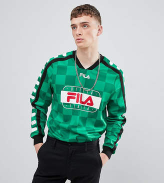 Fila Retro Goalie Long Sleeve T-Shirt In Green