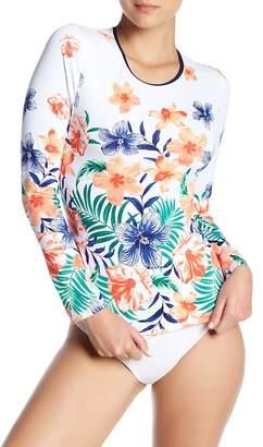 Tommy Bahama Floral Long Sleeve Rashguard
