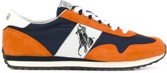 Polo Ralph Lauren logo panelled sneakers