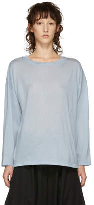 Chimala Blue Big Boatneck Wool T-Shirt