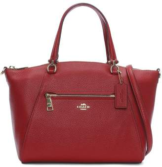 Coach Prairie Red Pebbled Leather Satchel