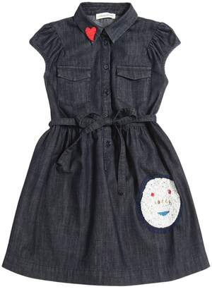 """""""Facce"""" Sequined Chambray Shirt Dress"""