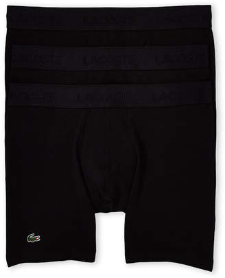 Lacoste Black 3-Pack Solid Boxer Briefs