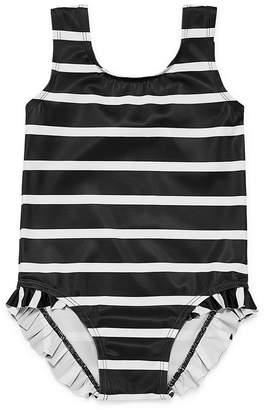 City Streets Stripe Ruffle One Piece Swimsuit - Baby Girl NB-24M
