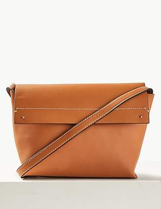M&S Collection Faux Leather Cross Body Bag