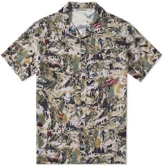 Lanvin Short Sleeve Alpine Print Vacation Shirt