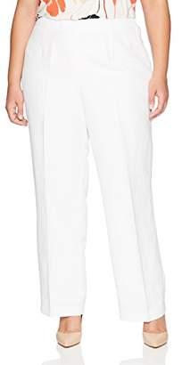 Kasper Women's Size Plus Solid Linen Pant