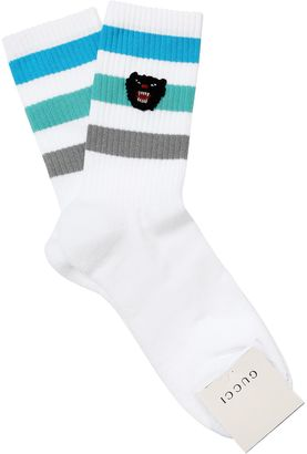 Panther Cotton Blend Socks $95 thestylecure.com
