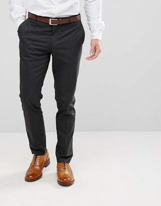 Jack and Jones Slim Fit Suit Pant In Dark Grey