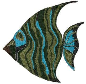 Kim Seybert Beaded Tropical Fish Placemat