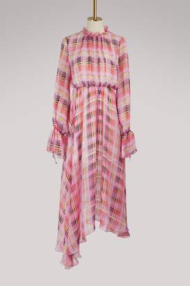 MSGM Long checkered dress