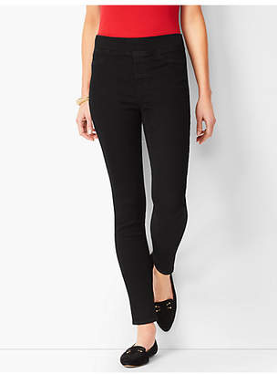 Talbots Sculpt Stretch Pull-On Denim Jeggings - Black