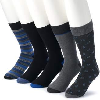 Croft & Barrow Men's 5-pack Opticool Patterned Marled Crew Socks