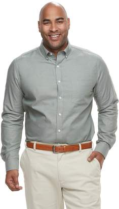 Croft & Barrow Big & Tall Regular-Fit Easy-Care Dobby Button-Down Shirt