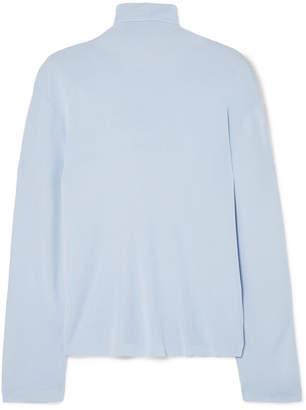 Khaite - Clarice Stretch-knit Turtleneck Sweater - Sky blue