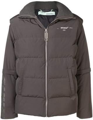 Off-White crystal embellished padded jacket