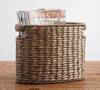 Pottery Barn Charleston Oval Magazine Basket, Gray