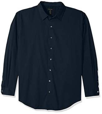 Van Heusen Men's Big and Tall Stripe Sateen Long Sleeve Shirt