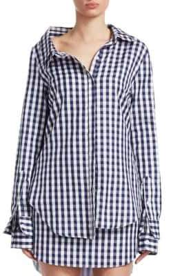 Monse Gingham Double Collar Shirt