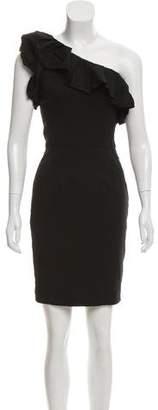 Rachel Zoe One-Shoulder Wool-Blend Dress w/ Tags