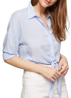 Miss Selfridge Tie-Front Shirt