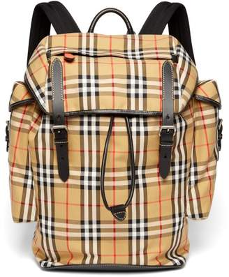 Burberry - Vintage Check Canvas Backpack - Mens - Multi