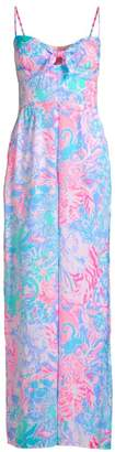 Lilly Pulitzer Bente Print Tie Sweetheart Jumpsuit