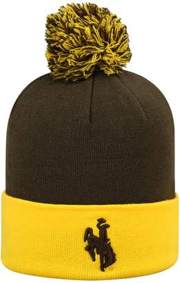 Top of the World Adult Wyoming Cowboys Pom Knit Hat
