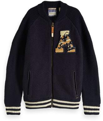 Scotch & Soda Knitted Bomber Jacket